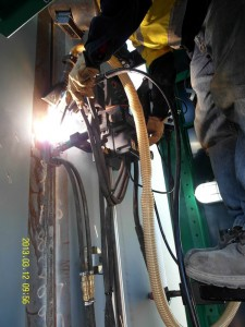 Tank Welding - EGW single pass weld 0013